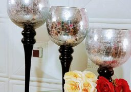 Silver Champagne Vases for Rent