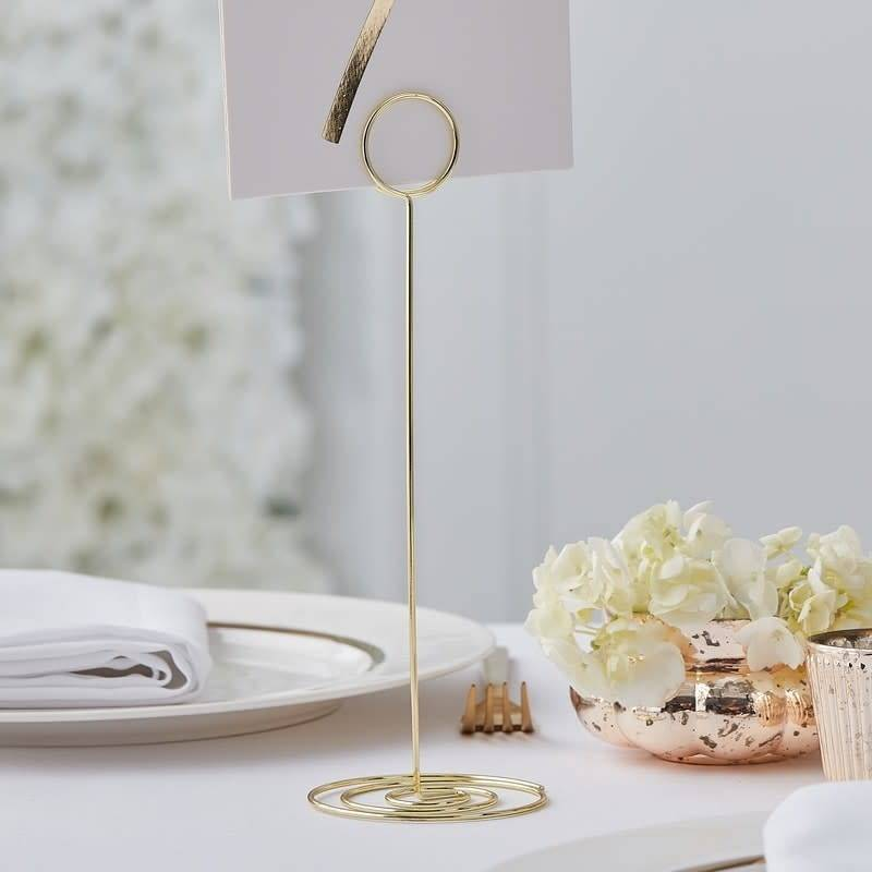 Gold table card metal holders for rent