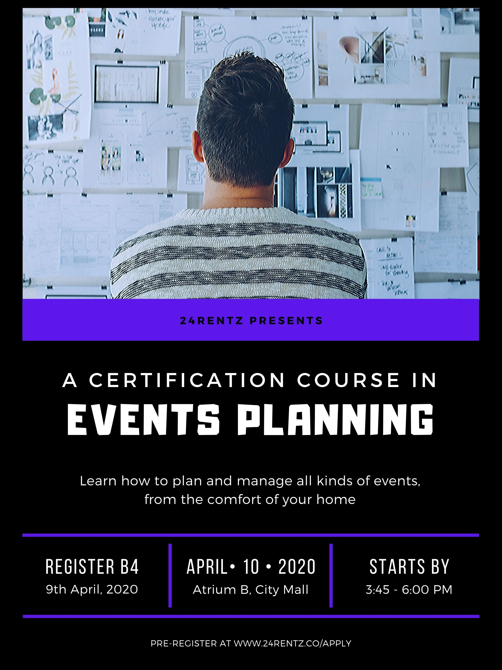 Learn event planning online
