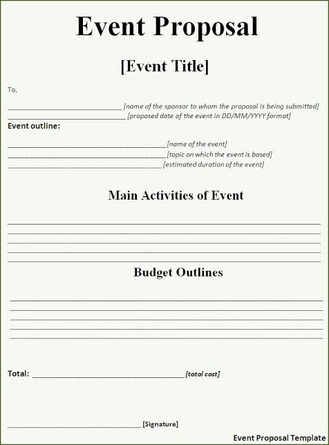 events proposal