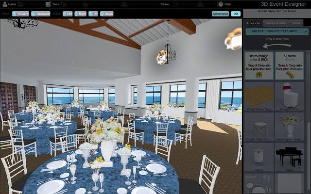 3D Event Floor Plan